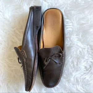 Cole Haan slip on loafer flat shoes leather Italy
